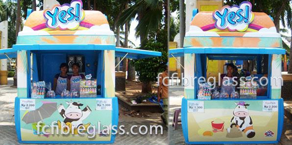 booth, kios, stand, counter, rombong fiberglass