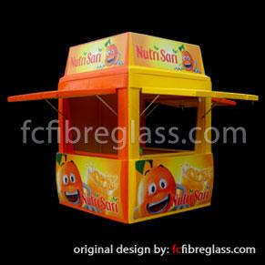 booth kios fiberglass