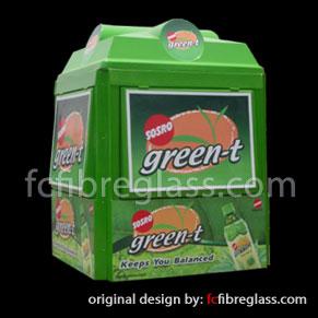 booth kiosk fiberglass green-t