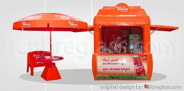 thematic design | FC-FIBERGLASS | Box Motor Delivery, Booth Kiosk