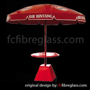 payung parasol fiberglass bir bintang