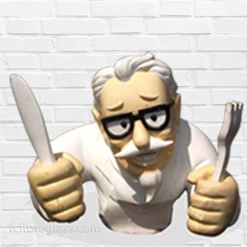 patung fiberglass colonel sanders