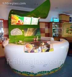 Booth Kiosk Fiberglass