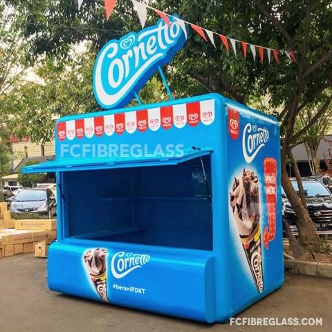 booth cornetto fiberglass