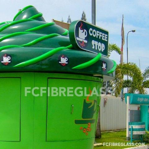 booth coffee stop fiberglass