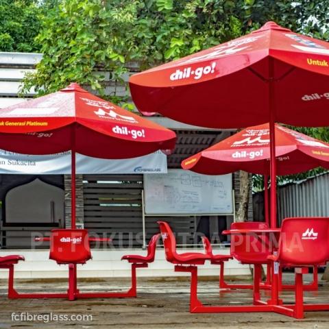 payung cafe fiberglass