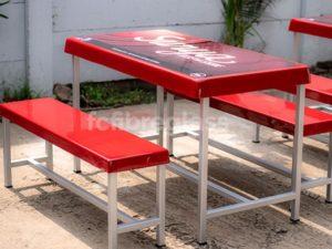 meja bangku kantin bahan fiberglass
