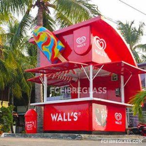 booth kios fiber walls