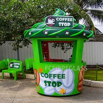 booth fiberglass coffee stop