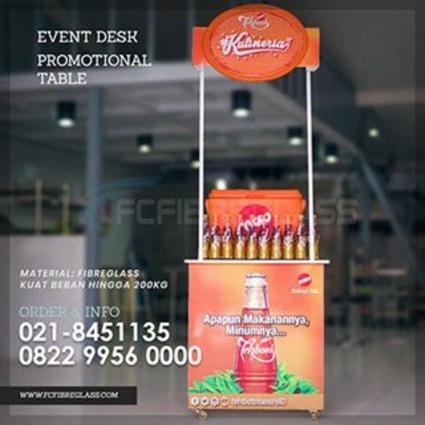 meja promosi minuman makanan