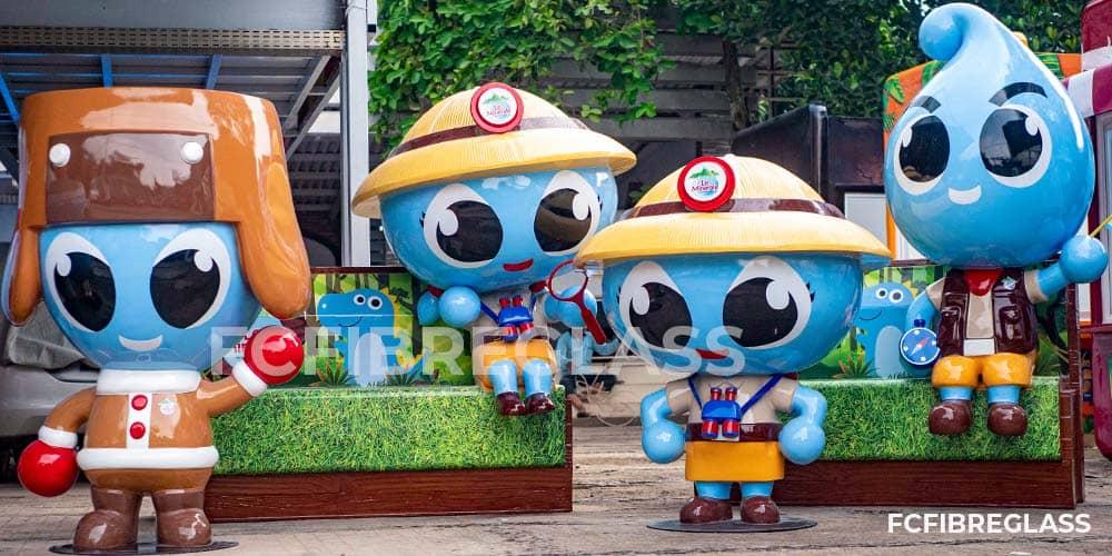 patung mascot fiberglass