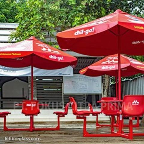 payung cafe outdoor bahan fiberglass