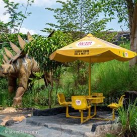 payung fiberglass set bangku