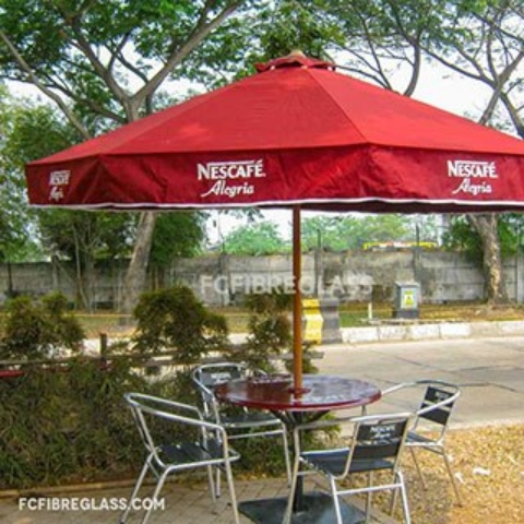payung promosi sunbrella nescafe