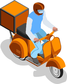 scooter delivery man