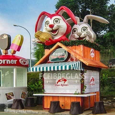 booth dua kelinci