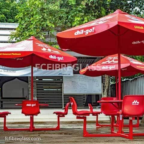 payung taman fiberglass